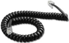 Avaya Lucent AT&T 9' FT Black Phone Handset Receiver Coil Curly Cord Wire NEW