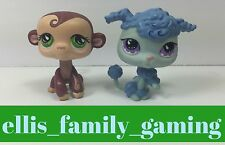 Littlest Pet Shop LPS Lot Portable Pets Monkey #590 Poodle #591