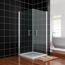 Duschkabine 90x90x195 Eckeinstieg ohne Rahmen Duschwand mit Schwingtür Badzimmer