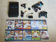 Playstation 2 komplett mit Controller + 3 Singstar Spiele + Micros + MC PS2 PS 2
