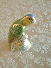 Royal Crown Derby Amazon Green Parrot Bird Limited Edition Paperweight