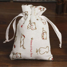 Men Women Cat Drawstring Beam Port Shopping Bag Travel Bag Gift Bag Shopper