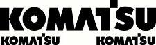 Komatsu Sticker Decal set