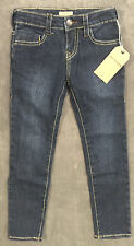 NEW TRUE RELIGION JEANS GIRLS CASEY SUPER SKINNY IN BLUE BOOK SZ 6X