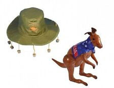 Australian Hat with Corks and Inflatable Aussie Kangaroo SET – Ashes, Australia