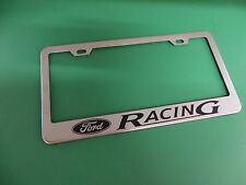 "(1pc)"" FORD RACING "" Stainless Steel license plate frame"