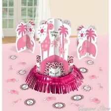 It's a Girl Sweet Safari Zoo Baby Shower Centerpieces + Confetti Party Supplies