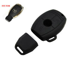 Black Remote Smart Key Silicone Fob Bag Holder Cover For Mercedes C E S M Class