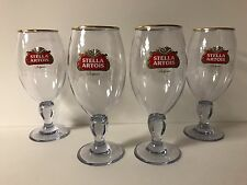 Stella Artois Acrylic 33 cl Chalice Glass BELGIUM Beer ~ Set Of Four (4) ~ NEW