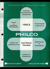 Rare 1963 Philco TV Television Features & Specifications Dealer Brochure
