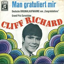CLIFF RICHARD  - 7'' Man Gratuliert Mir  (D, Columbia 23776, 1967)