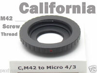 C Mount M42 lens 2 in 1To Micro 4/3 Adapter G2 G3 G1 GH1 EP1 Olympus Panasonic