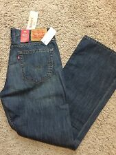 NWT Levis 527 Mens Slim Fit Boot Cut Levi's Jeans 34X34 $59