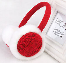 Women Faux Fur Earmuffs Earwarmers Earlap Winter Warmer Headband Ear Muffs Red