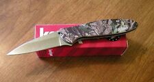 KERSHAW New Ken Onion Design Camo Handle Leek Plain Edge Blade Knife/Knives