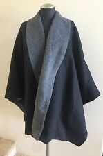 New with Tags THE FISHER PROJECT Baby Alpaca Char Poncho Top, Size M/L