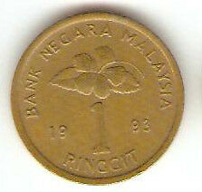 Offer Malaysia Kris $1  coin  1993 'RM'  very nice!