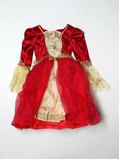 Girl Princess Belle Red Dress Up Halloween Costume Size 4-6X