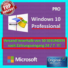 Microsoft Windows 10 Pro Vollversion ✓ AKTION 32 & 64 Bit Product-Key Lizenz
