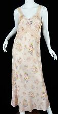 vintage 30s wedding Lingerie Slip Dress Floral silk Gown Xl