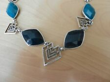 Lucky Brand Set Stone Tribal Collar Necklace  MSRP $65