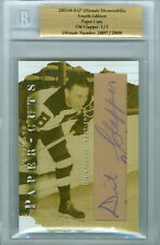 2003-04 BAP DIT CLAPPER 1/1 AUTO HOF PAPER CUTS ULTIMATE 4TH EDITION BRUINS