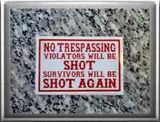 "HELLS ANGELS Support 81 Sticker Aufkleber ""NO TRESPASSING"""