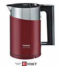 Siemens Cordless Electric Kettle TW86104 in Cranberry Red Brand New & Genuine