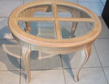 Hammary Bleached Oak Pickled Pine  2 Two End Tables Living Room
