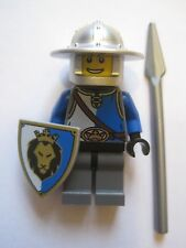 Lego Minifigure King's Knight Blue with Shield, Spear and Helmet Castle 70402