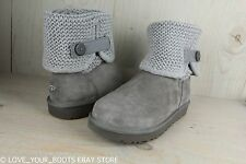 UGG SHAINA GREY KNIT SHAFT SUEDE SHEEPSKIN  BOOT WOMENS US 10 NIB