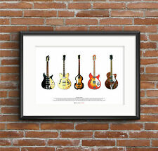 The Beatles' Guitars - ART POSTER A2 size