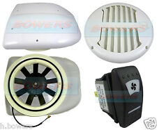 LOW PROFILE POWERED MOTORISED ROOF FAN AIR VENT EXTRACTOR MOTORHOME DOG PET VAN