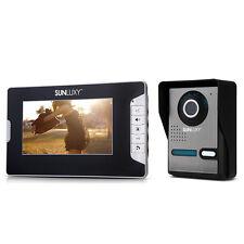 """Kit Videocitofono 1 Monitor LCD 7"""" Spioncino Digitale a Colori Visione Notturna"""