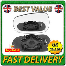 Left Passenger Side Heated Wing Mirror Glass for NISSAN MICRA MK3 K12 2003-2009