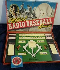 Old Vintage Board Game 1930's OFFICIAL RADIO BASEBALL GAME by TOY CREATION
