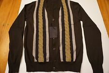 New Men Prada Miu Brown Cardigan Sweather sz M (50) from Saks Neiman Marcus $795