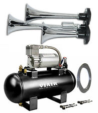 TRAIN AIR HORN VIAIR AIR KIT for DODGE RAM 1500 2500 3500 120psi Triple Trumpet