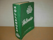 Hollander Foreign Car & LD Truck Parts Interchange Manual - 8 th Edition