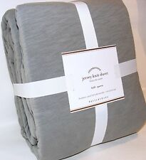 New! POTTERY BARN JERSEY KNIT Full Queen 100% Cotton DUVET COVER Flagstone Grey