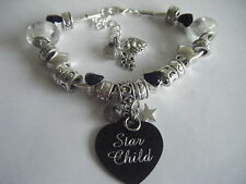 Spiritual Inspirational *Star Child/Starseed* Charm Bracelet Labradorite Cosmic