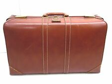 Vintage Olympic brown hard shell  Suit Case 24 x 13.5 x 7 deep