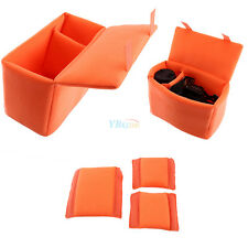 DSLR Camera Bag Insert Partition Padded Folding Divider Case Shockproof Orange