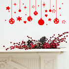 CHRISTMAS  BAUBLES AND STARS & SNOW  WALL / WINDOW STICKERS X MAS DECORATIONS