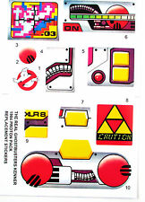 PROTON PACK THE REAL GHOSTBUSTERS ( KENNER ) replacement Sticker set , NICE!