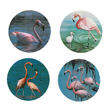 Flamingo Magnets:  4 Fancy Flamingos for your Fridge or Collection-A Great Gift