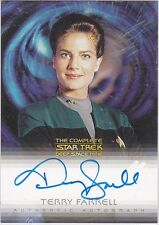 STAR TREK COMPLETE DEEP SPACE NINE A13 TERRY FARRELL JADZIA DAX AUTOGRAPH