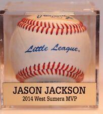 """Custom Baseball Cube Display Case Nameplate .75"""" x 3.0"""" Name Plate"""