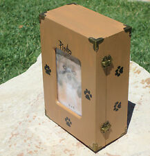 Personalized Pet Urn Photo Dog Cat Picture Keepsake Mementos Memorial Wood Box