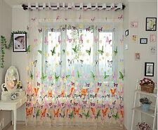 Schmetterling Gedruckt Voile Tulle Vorhang-Tür-Fenster Balkon Sheer Bildschirm